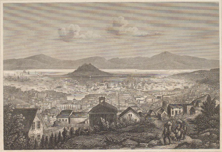 From the head of California Street, circa 1854 - J. Meyer Herrmann