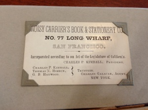 Charles Kimball's business card after the incorporation of Noisy Carrier's.