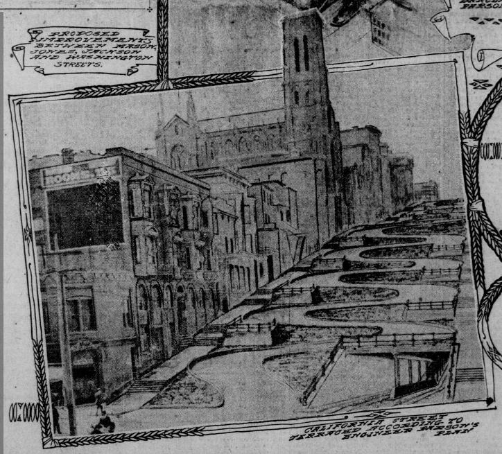 California Street Wiggle - 1905 plan