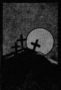 From article on Russian Hill, December 1912, S. F. Call, showing the three crosses mentioned in the 1857 Daily Alta article. [Cropped from original]