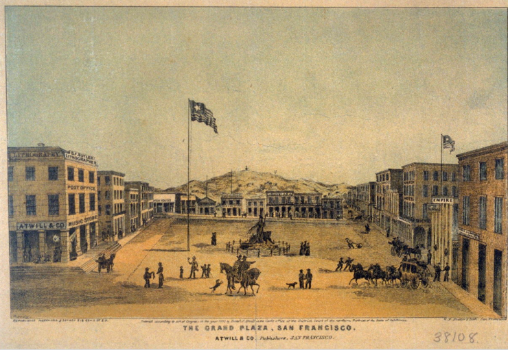 Atwill - Plaza- San Francisco - 1850