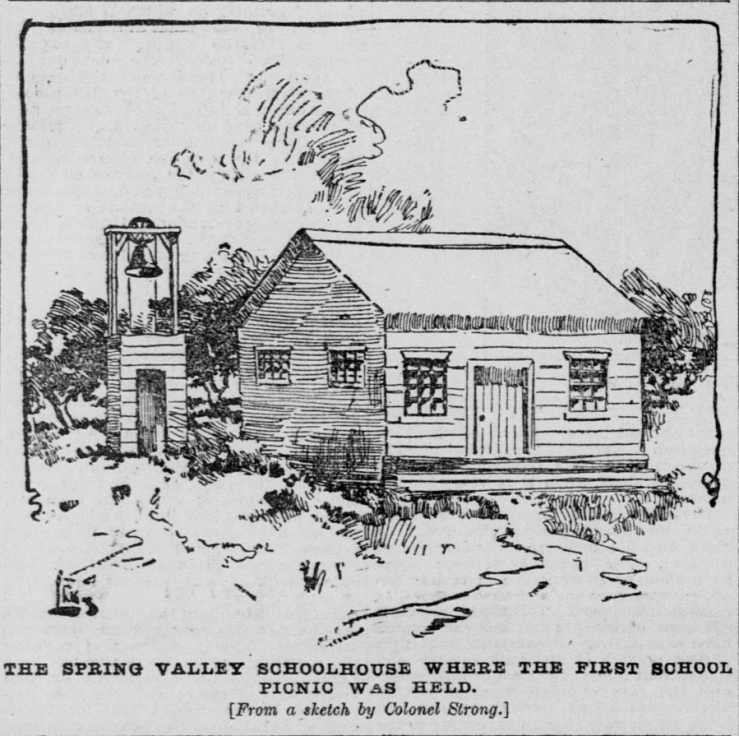 Spring Valley School - Strong Sketch late 19th Century remembering